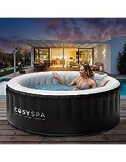 CosySpa Opblaasbare Hot Tub Spa - Bubbelbad Jacuzzi voor de tuin | 2-6 Personen - Snelle Opwarming (4 Personen Hot Tub, Hot Tub + 6 Filters + Comfortset)