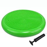 Sporthomer Inflated Wobble Cushion with Hand Pump, Extra Thick Flexible Fitness Balance Board, Sensory Stability Wiggle Seat for School, Office, Home, Gym, Kids