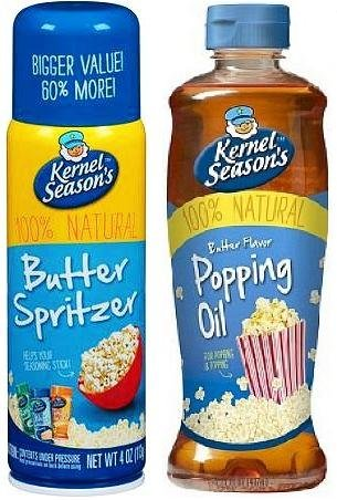 Purchase Kernel Season's Movie Theater Butter Popcorn Spritzer Spray and Natural Movie Theater Popping and Topping Oil