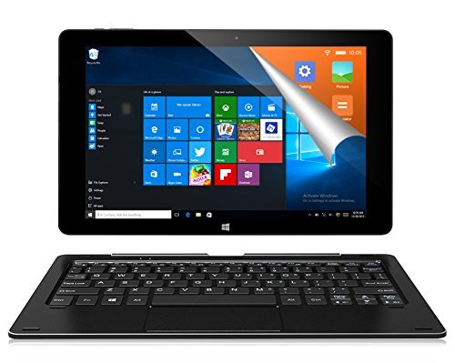 ALLDOCUBE iwork10 Pro 2-in-1 Tablet PC with Keyboard, 10.1 inch Laptop, 1920x1200 IPS Screen, Windows 10 + Android 5.1, Intel Atom Quad Core CPU, 4GB RAM, 64GB ROM, USB Type-C, HDMI Output, Black