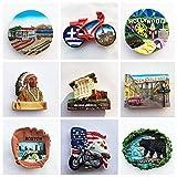 Imanes de Nevera 1 PCS Ciudad de Panamá Florida Hollywood Estados Unidos Imán de nevera Souvenir Grecia Creta Imanes decorativos San Francisco 3d Resin Craft Ideas de regalos (entrega aleatoria)