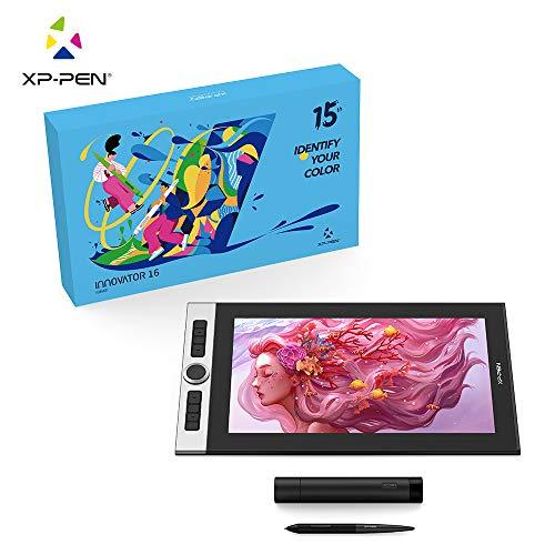 XP-PEN Innovator 16 Tableta gráfica Pantalla de 15.6' 92% Adobe RGB Detección de inclinación de 60 ° con reposición de Bolsos de Soporte Software Gratuito