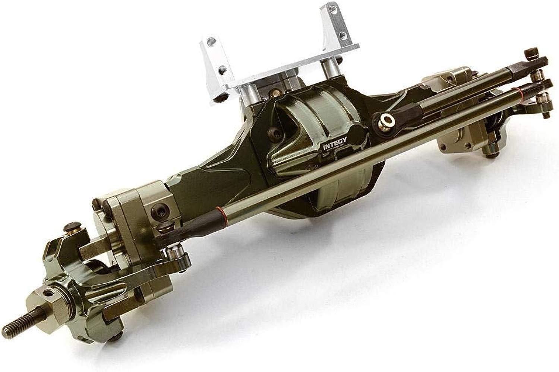 Integy RC modello Hop-ups C26155GUN completare T5 Hi-Lift Gearscatola davanti Axle for SCX-10, Dingo, Honcho & Jeep