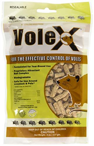 MouseX EcoClear Products 620205, VoleX All-Natural Non-Toxic Humane Pellets, 8 oz. Bag Vole Killer