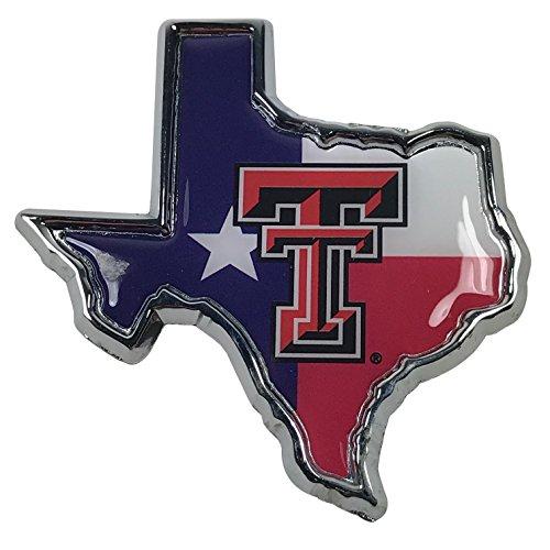 Texas Tech METAL Auto Emblem (Texas flag logo)