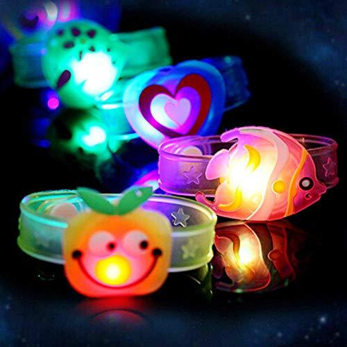 fish 2 Stücke Flash LED Cartoon Armband Beleuchtung Spielzeug für Kinder Geburtstagsgeschenk Flash Leuchtende Uhr Armbanduhr Glow Party Supplies, Multicolor
