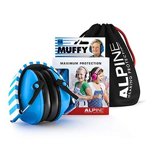 Alpine Muffy Kinder Kapselgehörschützer - Gehörschutz für Kinder ab 2 Jahren - Lärmschutz Verhindert Gehörschäden - Robust und einfach zu verstauen - Bequeme Passform - Blau