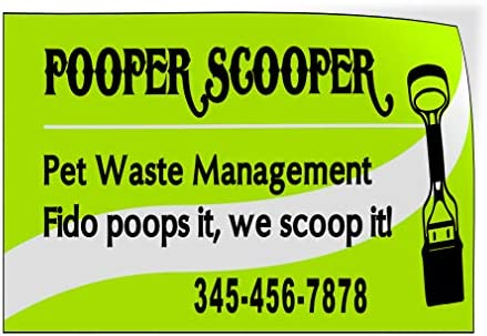 Custom Door Decals Vinyl Stickers Multiple Sizes Pooper Scooper Waste Management Green Business product image