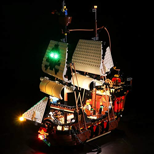 Nlne Kit De Iluminación Led para Lego Barco Pirata, Compatible con Ladrillos De Construcción Lego Modelo 31109 (NO Incluido En El Modelo)