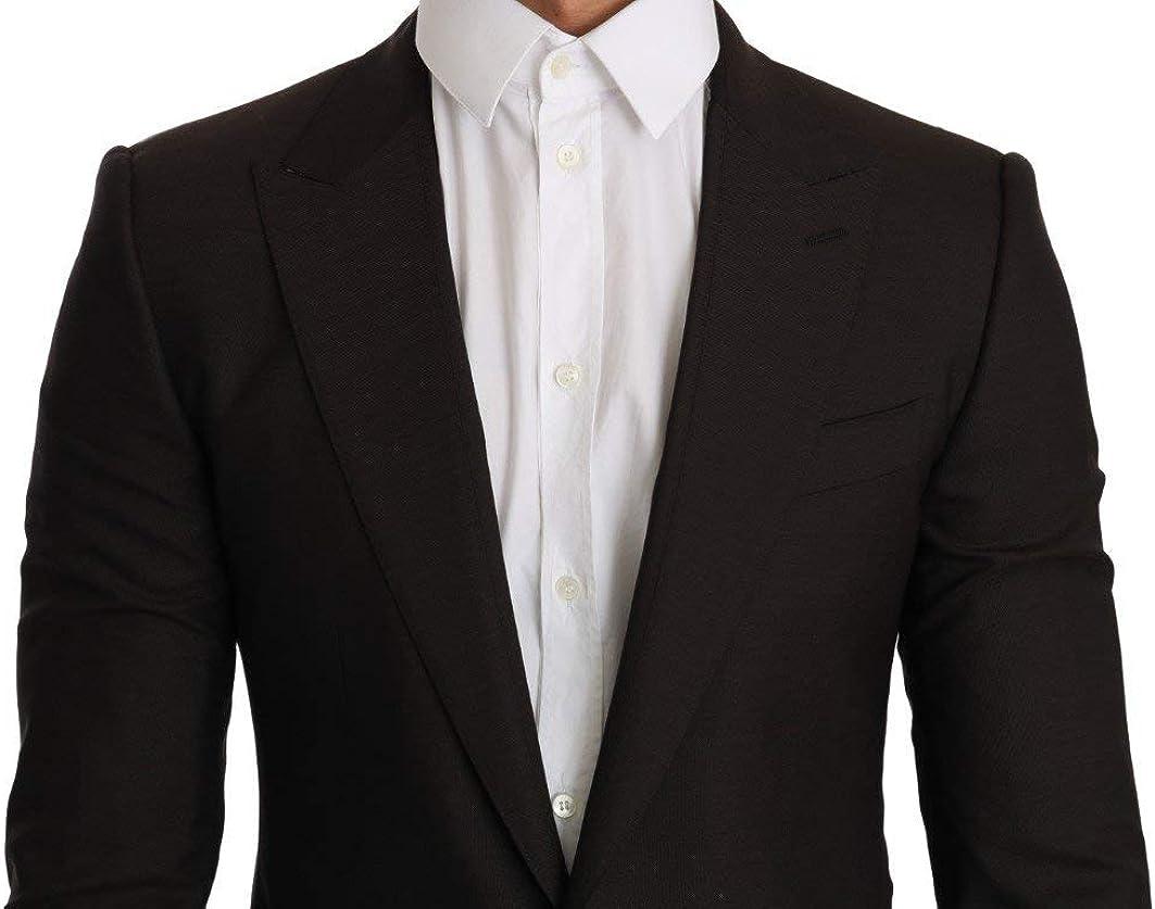 Dolce & Gabbana Brown Wool Sicilia Jacket Coat Blazer