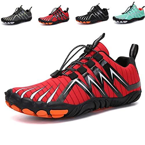 MIAOML Zapatillas Hombre Zapatillas Running Hombre Sneakers Zapatos Hombre Zapatillas Deportivo Hombre Zapatillas Casual Zapatos para Caminar Transpirables,Red-41码