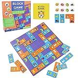 Holz-Puzzle-Brettspiel - Domino-Set Tierspiel Holz-Domino-Blockkarten Pairing-Spiel, Lernspielzeug für 3 4 5 6-Jährige Jungen Mädchen Kinder Geburtstagsgeschenk(47 Stück)