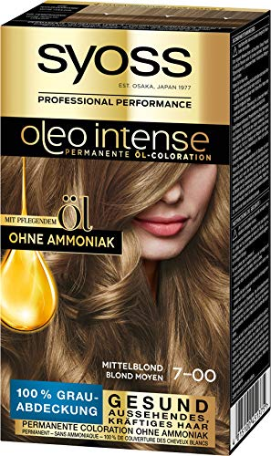 Syoss Haarfarbe Coloration Mittelblond 7-00 Stufe 3, 3er Pack(3 x 115 ml)