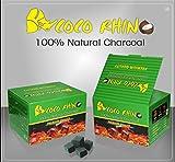 COCO RHINO 1 KG Carbón Natural de Coco Premium Cachimba y BBQ - Shisha y Barbacoas – Cubos de Carbón Barbacoa