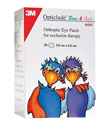 3M Opticlude 2537PE - Parches Ortocópicos para Niños y Niñas, Tamaño Mini
