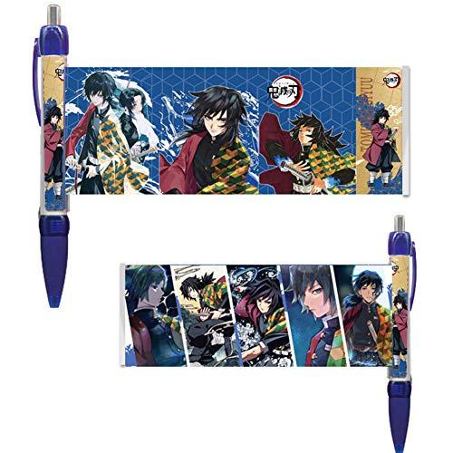 Sweet&rro17 Anime Demon Slayer Banner Kugelschreiber Schulsachen, Schreibfarbe schwarz(Giyuu Tomioka)
