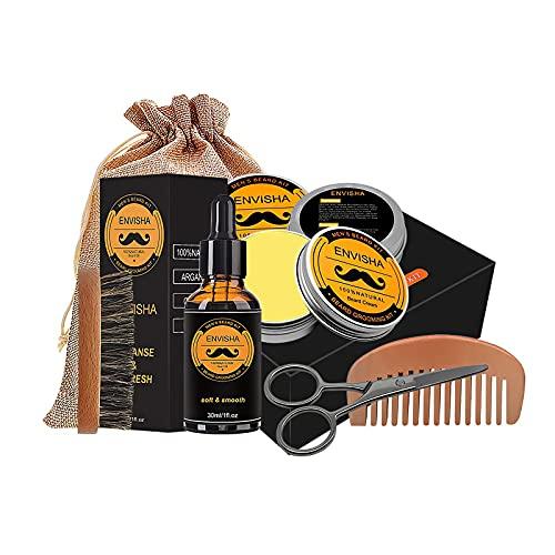 6 piezas de cuidado de la barba, cuidado de la piel, 6 piezas kit de aseo de barba, peine eficaz para hombres para barba productos para hombres