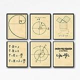 Wallbuddy Mathematik Poster 6er Set Mathematik Drucke