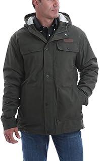 Cinch Men's Olive Herringbone Sherpa Lined Barn Coat