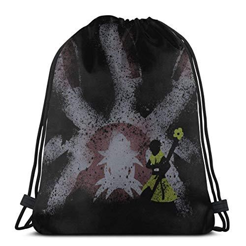 brandless Drawstring Bag Sport Gym Backpack Storage Goodie Six Tails Jinchuriki Utakata