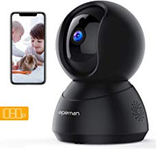 APEMAN Home Camera 1080P WiFi Security Camera Wireless Indoor Surveillance Camera Pet/Baby Monitor Compatible with Alexa 2-Way Audio Motion Detection Night Vision Pan/Tilt/Zoom