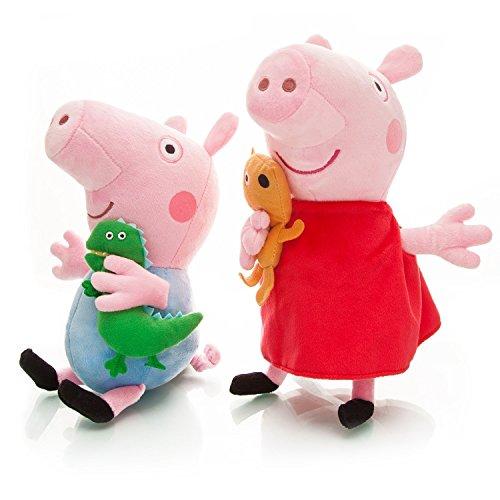 OliaDesign Peppa Piggy Plush Doll for Kids Gift (2 Piece), 8'