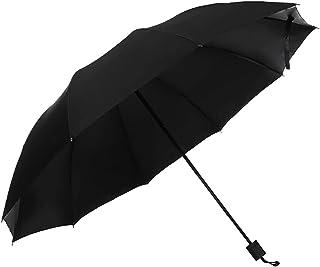 CALIDAKA 58 inch Folding Golf Umbrella, Large Travel Windproof Compact Umbrella, 10 Ribs Windproof Travel Umbrella, Strong...