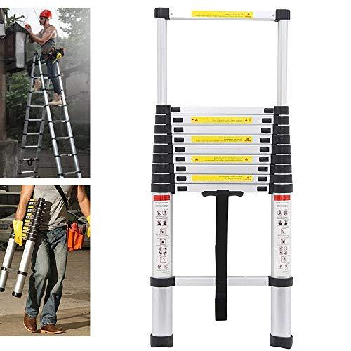 Telescopic Ladders 3.2M Step Ladder Lightweight Aluminum Portable Multi-Use...