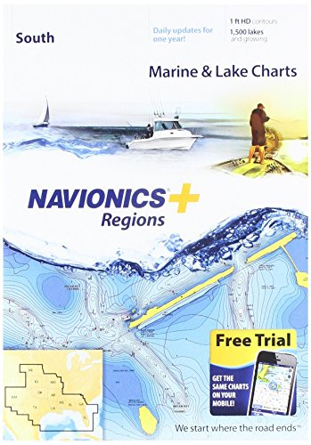 Navionics Plus Regions South Marine and Lake Charts on SD/MSD