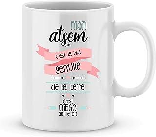 Mug ATSEM à personnaliser avec le prénom de votre enfant - Cadeau pour atsem personnalisé - cadeau atsem pour la fin d'ann...