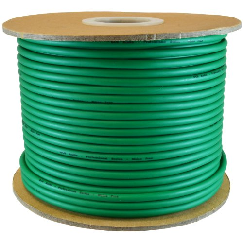 GLS Audio Bulk Microphone Cable 300' Green Mic -300ft Signal Mike Cable