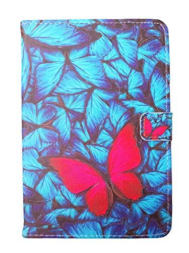 Unversale Hülle 7-8 Zoll, TASVICOO Unversale Tablet Schutzhülle Buchstyle Cover Standfunktion für alle 7/7,85/7,9/8 Zoll Tablet(Schmetterling2)