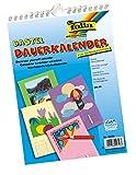 folia 2318 - Dauerkalender mit Spiralbindung, Bastelkalender, DIN A4, farbig sortiert - zum Selbstgestalten
