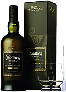 Ardbeg Uigeadail Islay Single Malt Whisky 0,7 Liter  2 Glencairn Gläser