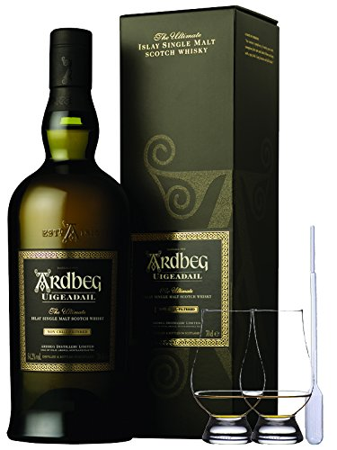 Ardbeg Uigeadail Islay Single Malt Whisky 0,7 Liter + 2 Glencairn Gläser
