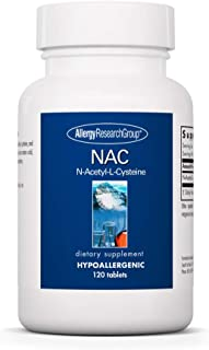 Allergy Research Group - NAC N-Acetyl-L-Cysteine - Antioxidant, Glutathione Support - 120 Tablets