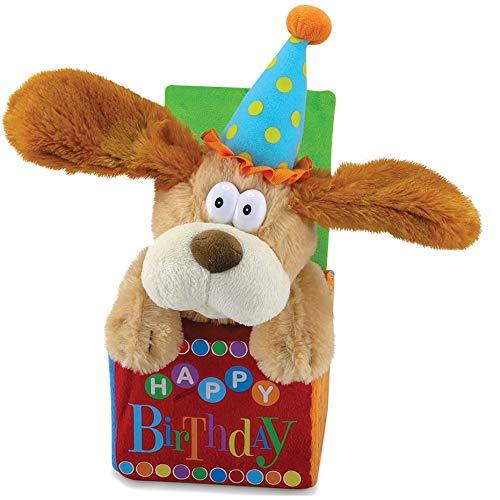 12' Flappy Birthday Animated Plush Puppy Dog Singing 'Happy Birthday'
