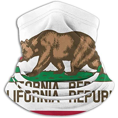 Fanqi California State Flag Calentador de cuello Polainas Pasamontañas Máscara de esquí Clima frío Mascarilla Sombreros de invierno Gorros