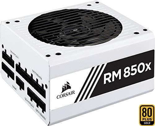Corsair RM850x PC-Netzteil (Voll-Modulares Kabelmanagement, 80 Plus Gold, 850 Watt, EU) weiß