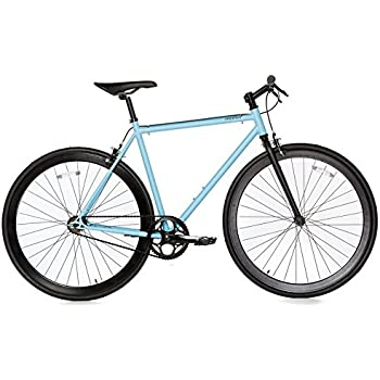 Moma Bikes Bicicleta Fixie Urbana, Fixie AzulFixed Gear & Single ...