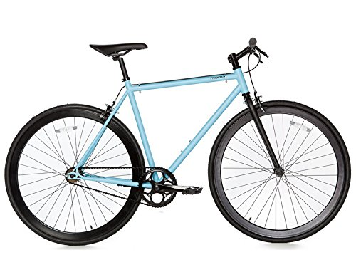 Moma Bikes Bicicleta Fixie Urbana, Fixie AzulFixed Gear & Single Speed (Varias Tallas)