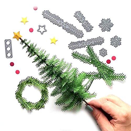 Transer Dies- de corte de metal árbol de Navidad corona artesanías DIY Scrapbooking tarjeta de papel álbum de repujado Craft Die Herramienta (7,5* 11,5cm)