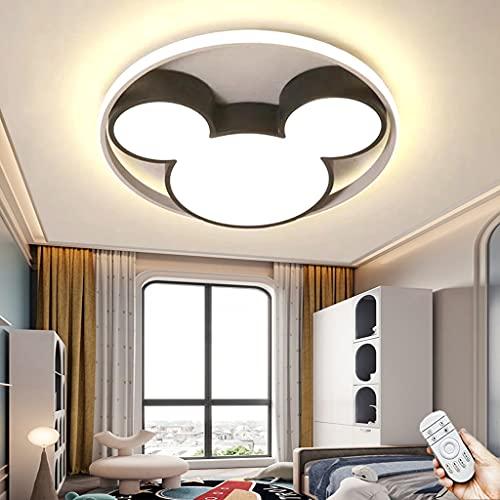 Moderna Regulable Lámpara De Techo LED Lámpara De Sala De Estar Con Control Remoto Lámpara De Acrílico Para Habitación De Niños Para Comedor Hotel Estudio Cocina Araña Dormitorio Iluminación (Black)