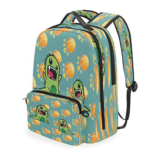 Dinosaur Star Bookbag Daybacks Student Backpack for Travel Teen Girls Boys Kids