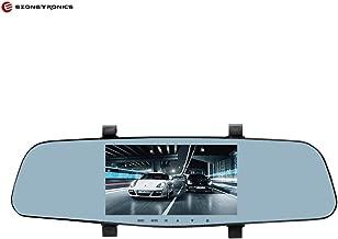 Ezonetronics 5'' Dual Lens Video Recorder Dash Cam Super Night Vision 1296P Rearview Mirror Car Camera Waterproof DVR Rear View Camera G-Sensor LC2020