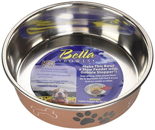 Loving Pets Métalliques Bella Bol Chiens, Moyen, Cuivre, 750ml