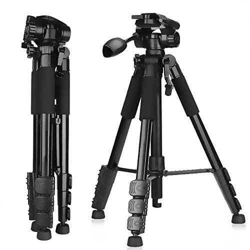 camera mount with js New Portable Video Photo Tripod 4.8ft Aluminum Alloy Professional Camera Tripod