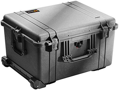 PELI 1620 Maleta Trolley Grande para el Transporte de Material Audiovisual y fotográfico, IP67 estanca e Impermeable al Polvo, 72L de Capacidad, Fabricada en Alemania, sin Espuma, Color Negro