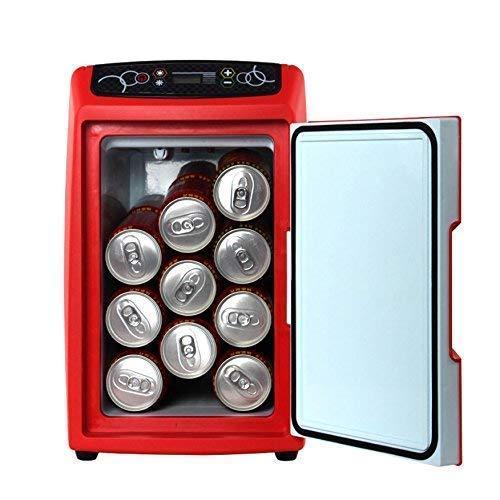 APcjerp Voiture Réfrigérateur 12L Mini Chauffage et climatisation Boîte véhicule à Usage Domestique Portable Voyage Réfrigérateur 12V / 220V, Rouge (Taille: Gris) hslywan (Couleur: Rouge) Hslywan