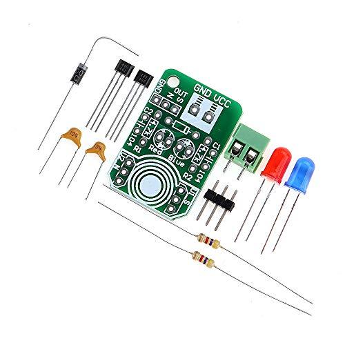ILS – 5 unidades Hall Sensor de inducción magnético Detección magnética Resolutor de polos magnéticos Módulo de detección de polos norte y sur Kit DIY